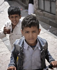 Boys in Taiz, Yemen