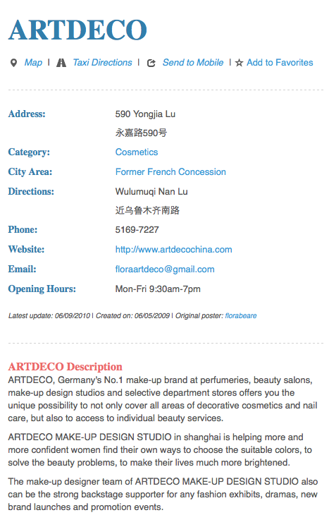 Artdeco Sells In China