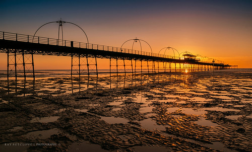 Sunset. Southport Pier. April 2014.