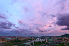 Sunset after Rainy Day in Prague