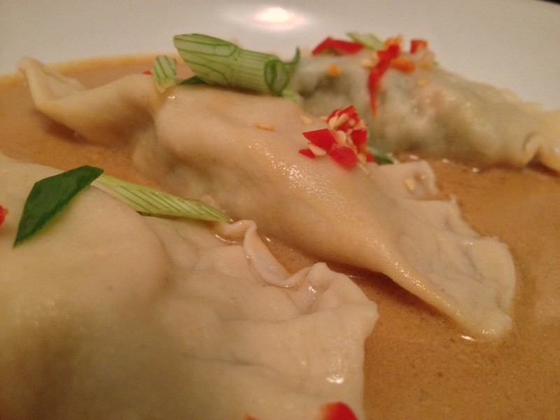 Crab and Scallop Ravioli : Close Up