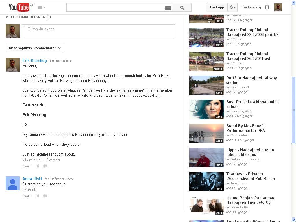 youtube rosenborg