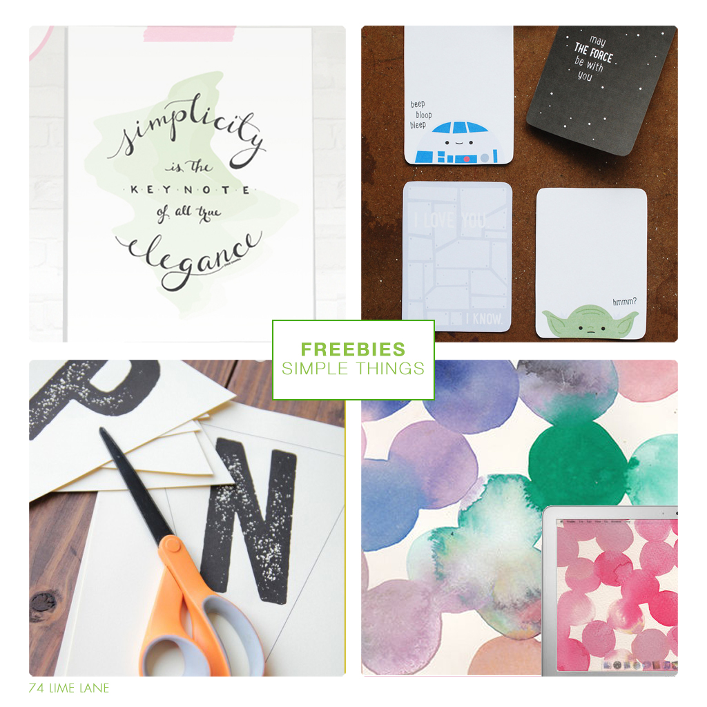 freebies // the simple things