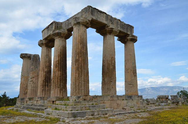 Temple of Apollo, built ca. 540 BC, Corinth, Greece