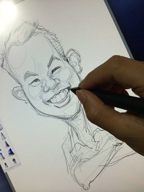 digital caricature for EO Singapore - Marcus Ho