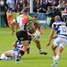 Small photo of Dave Ward passing to Nick Easter