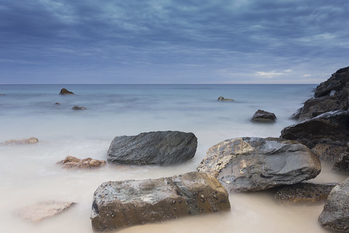 sunset beach water dawn long exposure south australia silky