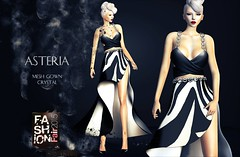 Asteria Creations - Mesh Crystal Gown - Exclusive for FASHION FAIR 2015