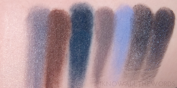 avon starry nights palette swatches