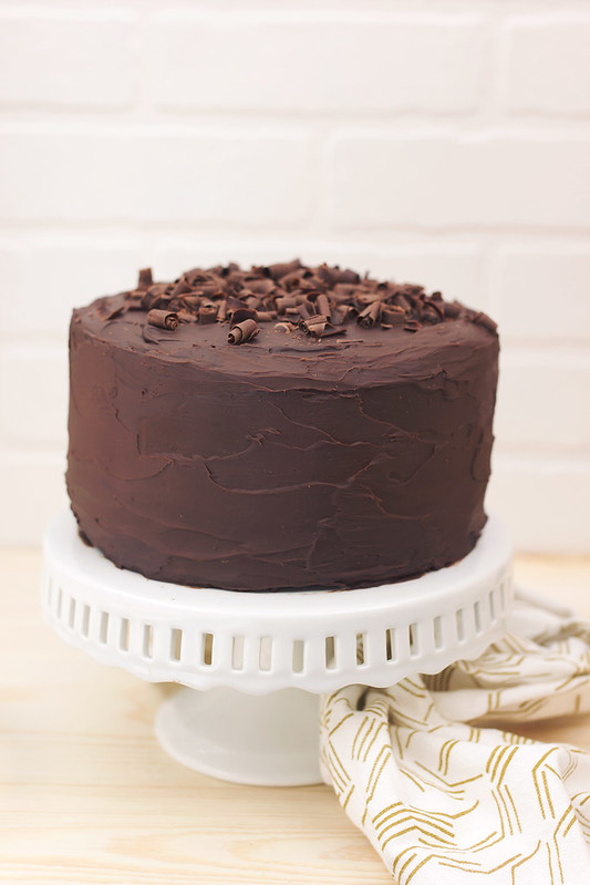 Grain-free Chocolate Cake with Dark Chocolate Ganache Frosting - Tasty ...