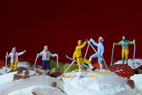 Cross country skiing on whipped cream