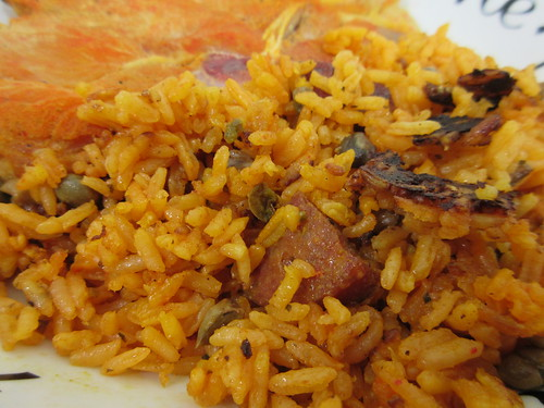 Pork Chops and Arroz Con Gandules