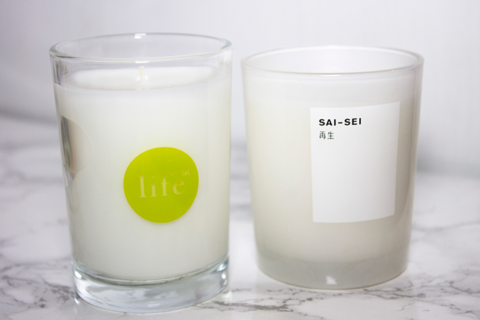 Space NK Candles: Sai-Sei Candle and Life NK Parsley Mint Candle