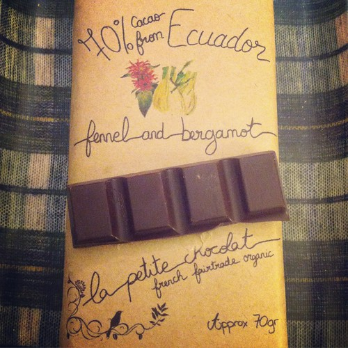 Fennel and bergamot chocolate from la petite chocolat