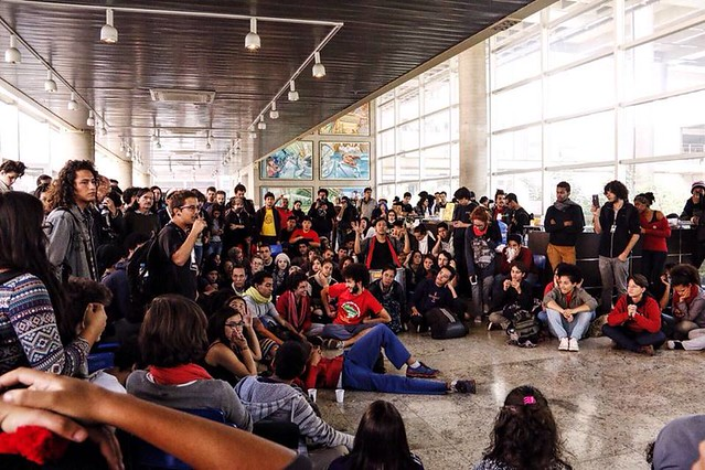 Estudantes ocupam o Centro Paula Souza nesta segunda (2) - Créditos: José Eduardo Bernardes/Brasil de Fato
