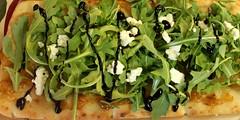 Appetizer ~ Naan, Fig Jam, Arugula, Feta Cheese, Balsamic Vinegar Glaze