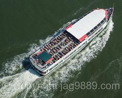 Circle Line Cruise Ship on the Hudson River, New York City