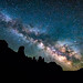 Milky Way Over The Fisher Towers by Bryce Bradford