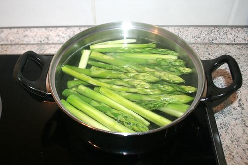 18 - Spargel blanchieren / Blanch asparagus
