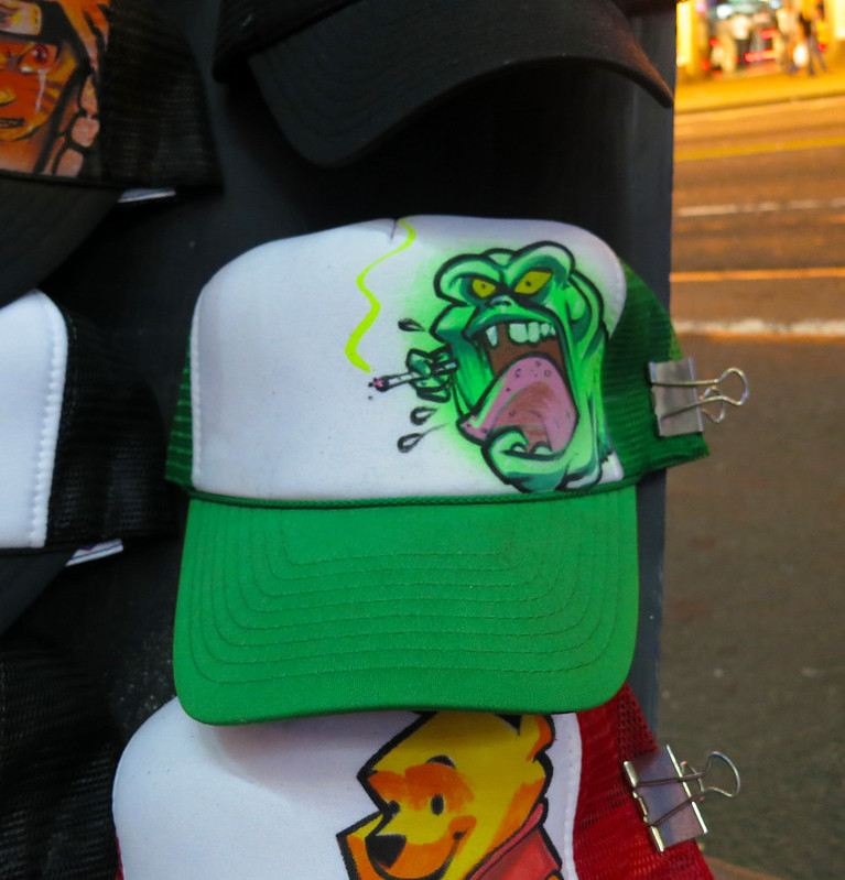 ec2d251958e Graffiti Trucker Hat Being Personalized in New York City s Times Square