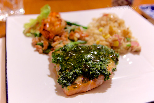 Pesto Salmon at Chop Wok and Talk Cooking Class