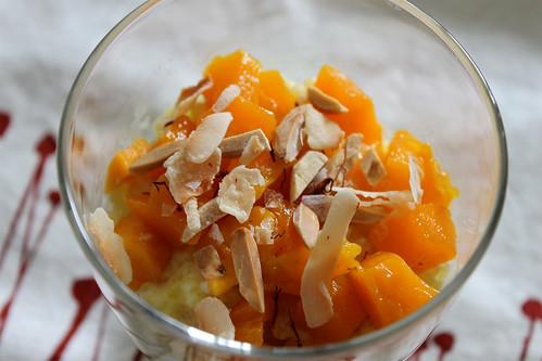 Coconut-Saffron Tapioca Pudding