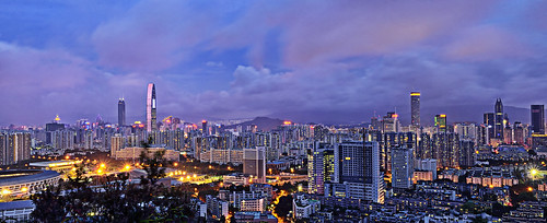 china city panorama skyline architecture night asia cityscape guangdong shenzhen cbd 深圳 diwang futian huaqiangbei shenzhencity 1855mmnikkor bijiashan 筆架山公園 kk100