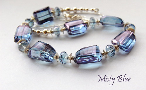 Misty Blue Necklace by gemwaithnia