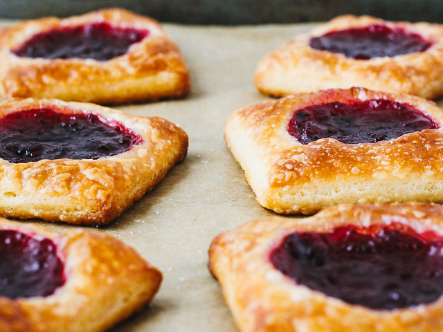 Cherry jam danishes
