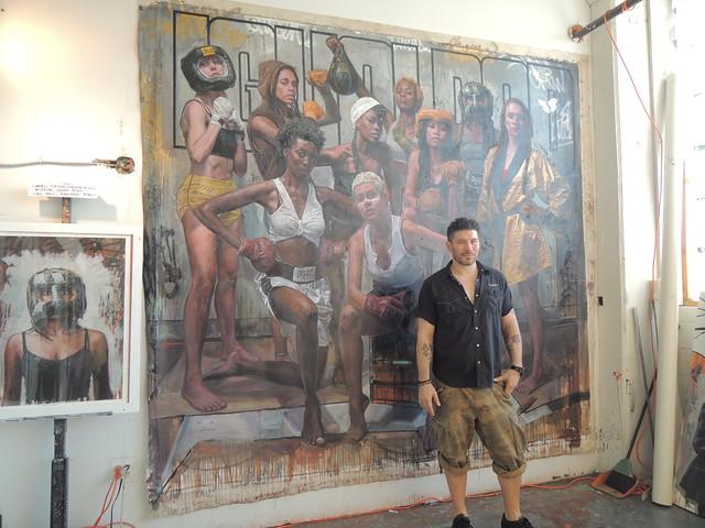 Tim Okamura with work
