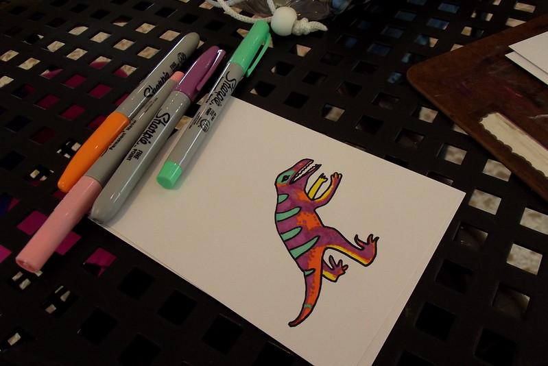 Drawing Dinos at the Domes