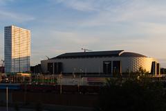 Friends Arena evening light
