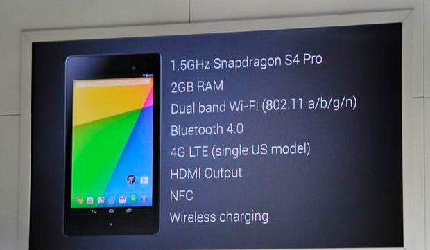Характеристики Nexus 7 (2013)