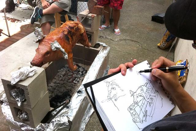 Roasted Pig Sketch
