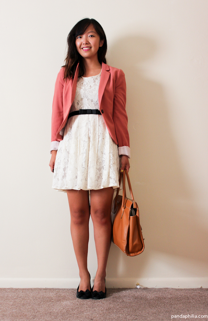 blazer and dress work outfit