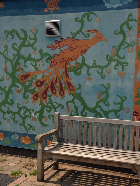 arbury mayfield primary school mural bird