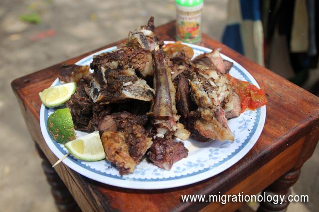 Tanzanian nyama choma in served!