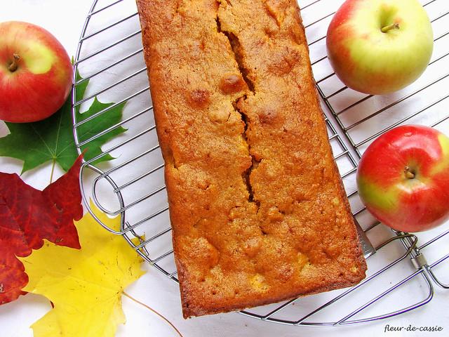 тыквенный кекс с яблоком 2