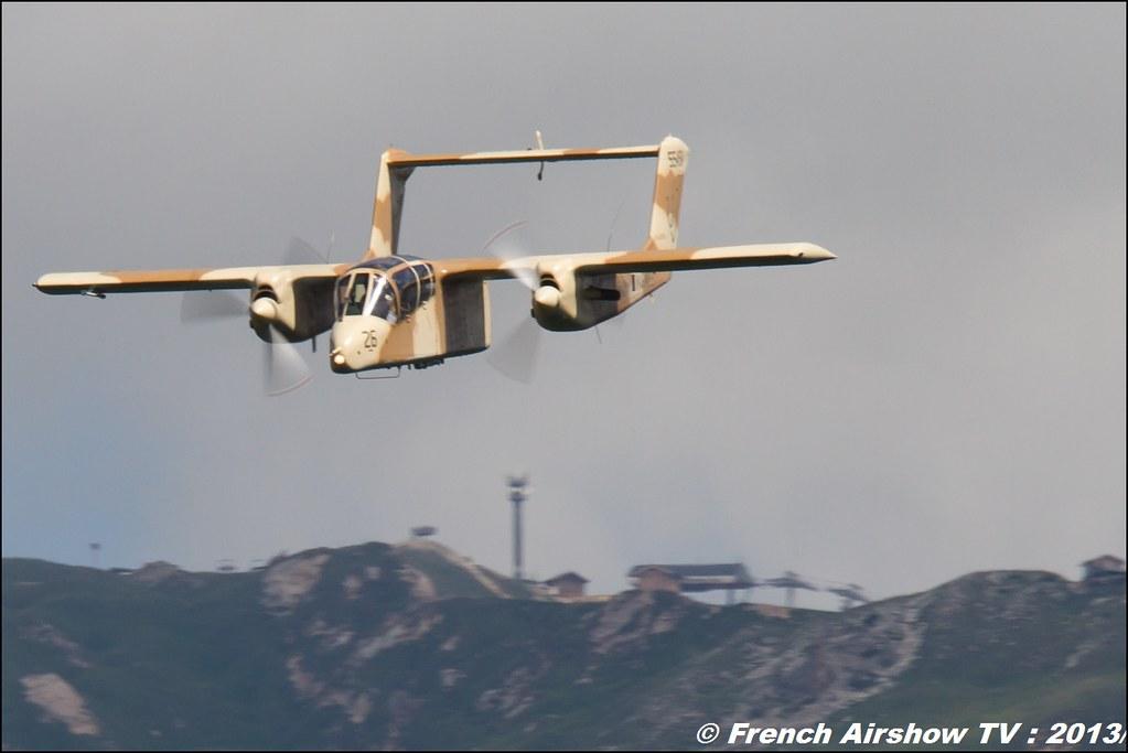 OV-10 Bronco montelimar 2013,Fete de l'air,Courchevel Saut à Ski 2013