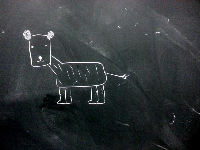 Chalkboard buddy from Flickr via Wylio