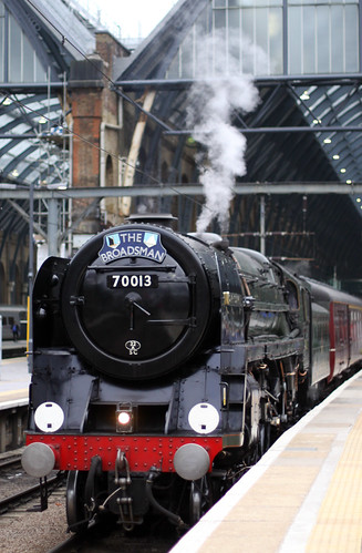 "70013 ""Oliver Cromwell"", The Boradsman, King's Cross station, London 4th October 2013"
