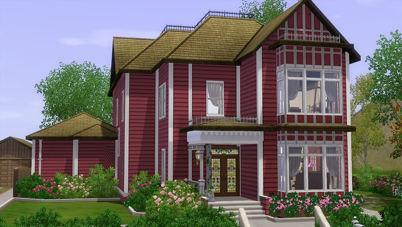 mod the sims - halliwell manor (charmed) - no cc/store