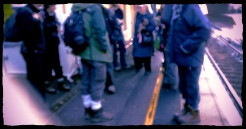 Tenko: no step over yellow line!