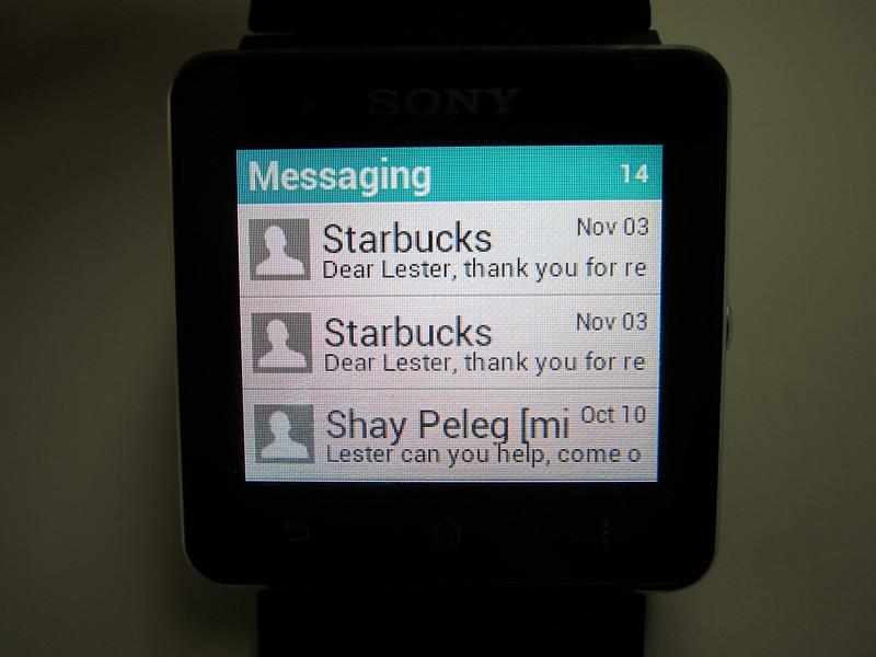 Sony SmartWatch 2 - SMS App