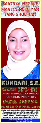 Kundari, S.E. Calon Dewan Perwakilan Daerah Republik Indonesia 2014-2019 Perwakilan Provinsi Jawa Tengah