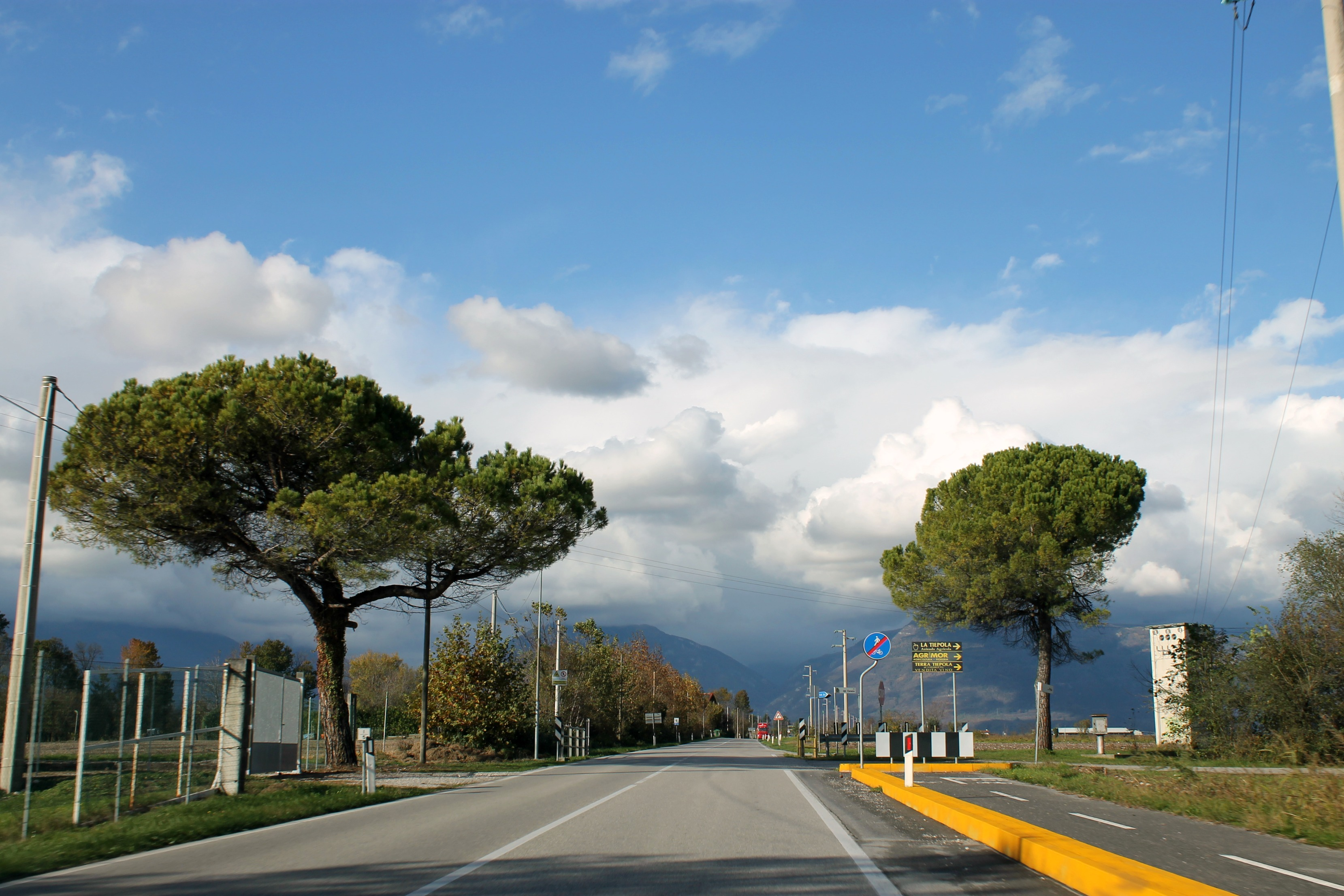 driving in northern Italy