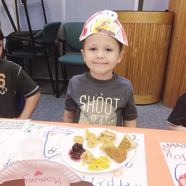 My big boy at his school's #thanksgiving feast! #pictapgo_app