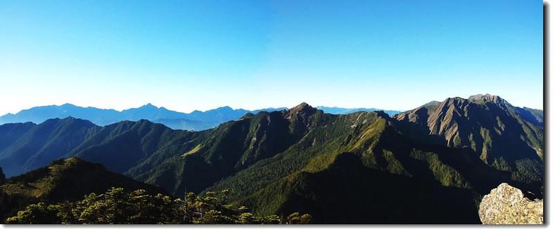 雪山聖稜線(From大霸尖山頂南眺) 3