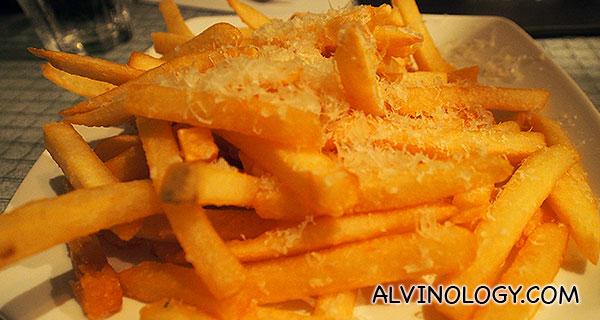 Truffle and Thyme Fries (Truffle oil, thyme salt, granda padano) - S$12