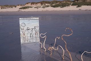 Land Art avec miroir
